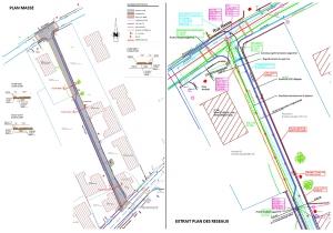 Réhabilitation de réseaux Plan de masse et plan de réseaux rue Tonelli à Helfrantzkirch