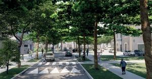 Huningue nouvelle porte d'entrée rue de Belfort
