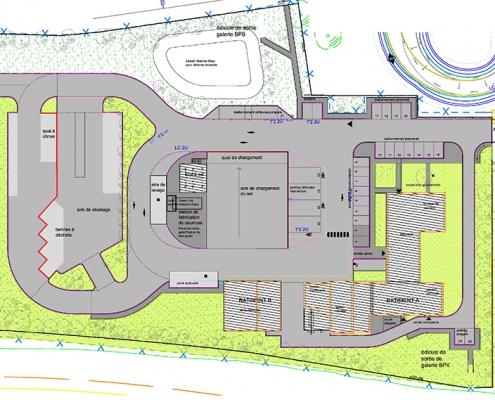 Plan de masse du CEI pour le contournement ouest de Strasbourg