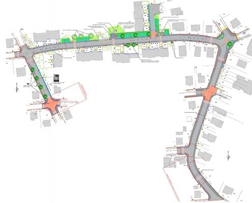 Village neuf requalification de rue