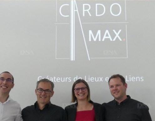 Yann Biegel, Eric Bianco, Céline Lambert, Laurent Gavin les quatre associés de Cardomax