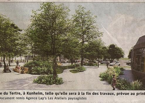 Kunheim futur place du Tertre