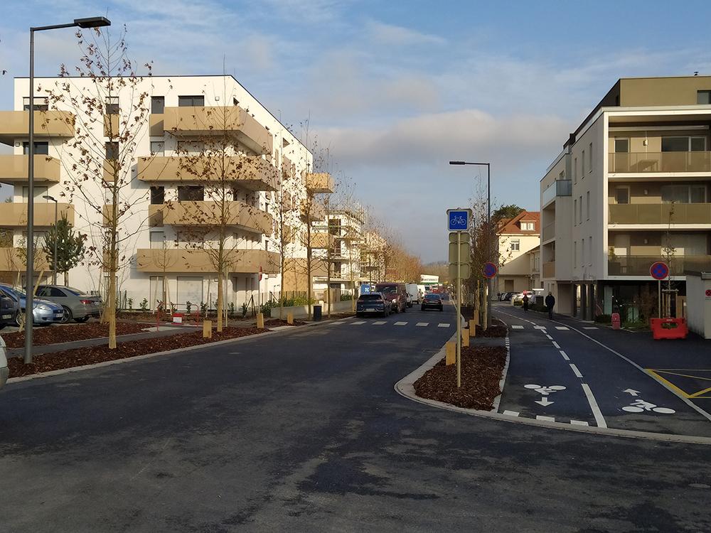 Requalification de rue et parkings Pistes cyclables